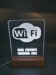 Bilde av Wi-Fi skilt med lys